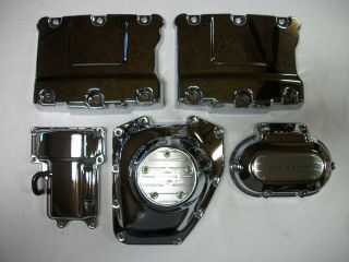Harley Davidson Chrome Engine and Transmission Covers Twin Cam