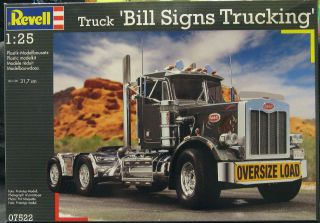 25 Revell Peterbilt 359 Conventional Truck Bill Signs Trucking