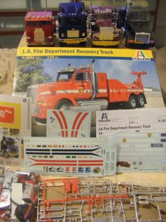 models ITALERI LA FIRE, PETERBILT 359, WHITE FRIEGHTERLINER , TITAN 90