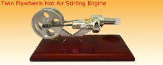 Flywheels Hot Air Stirling Engine 1,500 RPM Educational Teaching Toy