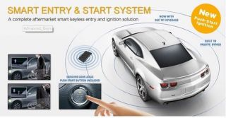 Button Star Engine & car security alarm Auto Remote Passive keyless