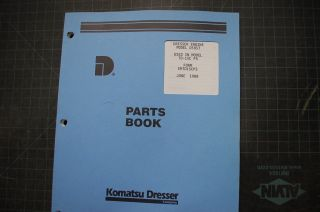 TD15C Crawler Dozer Tractor D505T Engine Parts Manual Book 1988