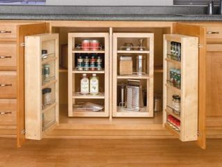 Rev A Shelf 4WDP18 45 45 Pantry Door Unit (w/Hardware) Single   Wood