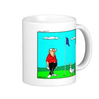 Lustiger Golf Cartoon Becher Tassen