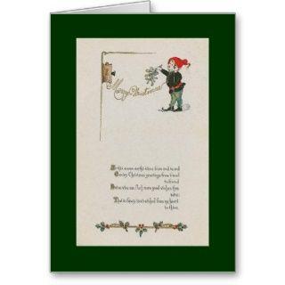 Antike Telefon Weihnachtskarte